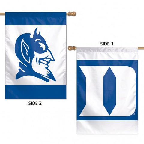 "DUKE UNIVERSITY VERTICAL FLAG 2 SIDED 28"" X 40"" - AtlanticCoastSports"