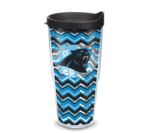 Panthers Chevron Wrap With Travel Lid - AtlanticCoastSports