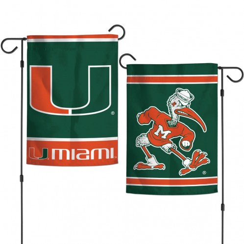 Miami Hurricanes 2 Sided Garden Flages