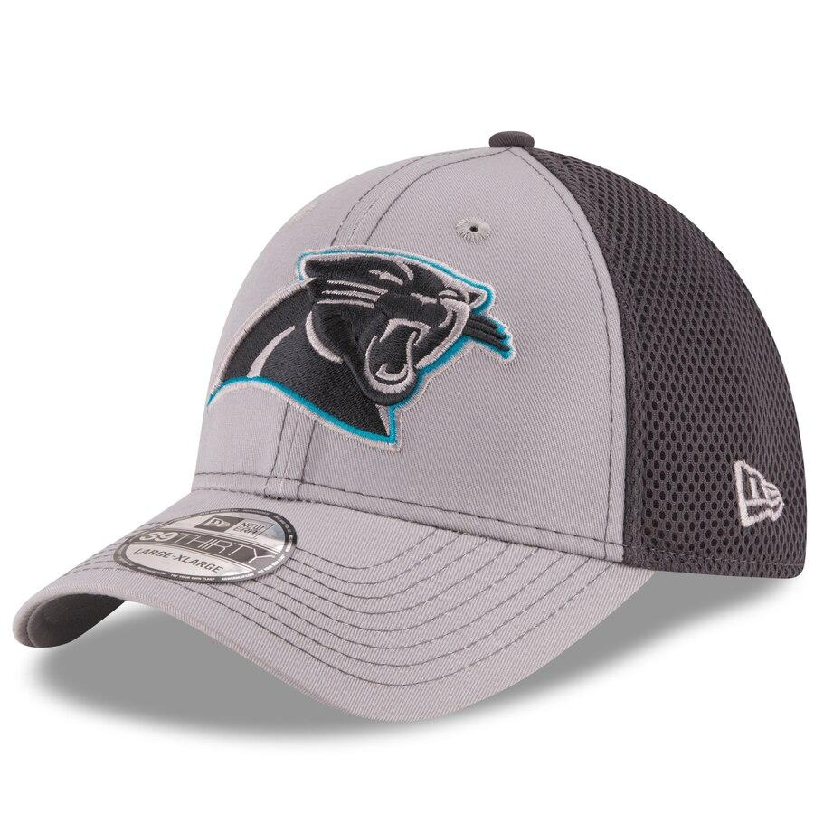 Carolina Panthers New Era Neo 39Thirty Grey Stretch Fit Hat - AtlanticCoastSports