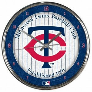 Minnesota Twins Round Chrome Wall Clock - AtlanticCoastSports