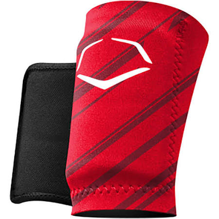 EvoShield Speed Stripe Adult Baseball Forearm/Wrist Guard, Red MED - AtlanticCoastSports