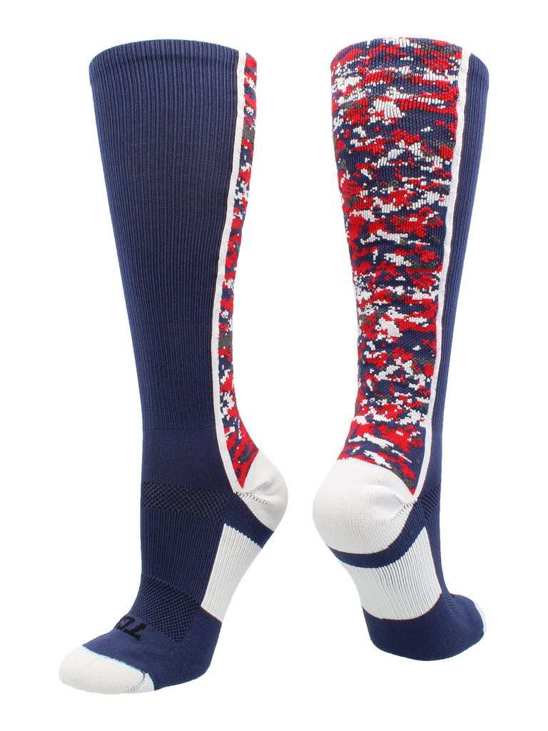 Digital Camo OTC Socks NAVY WHITE RED Navy White Red XL MENS 12 - 15 - AtlanticCoastSports