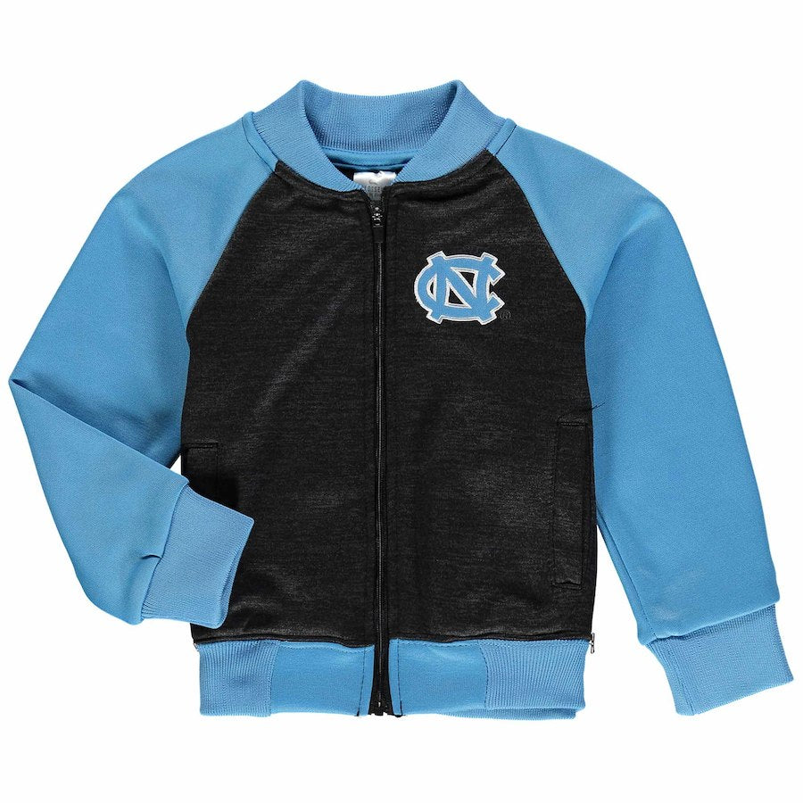 North Carolina Tar Heels Colosseum Toddler Goonies Fleece Bomber Full Zip Jacket Navy/Blue - AtlanticCoastSports
