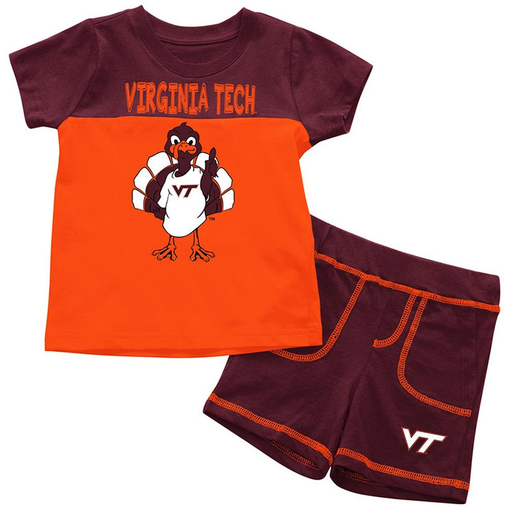 Virginia Tech VT Hokies Infant T-Shirt and Shorts Boy's 2-Pc Set - AtlanticCoastSports
