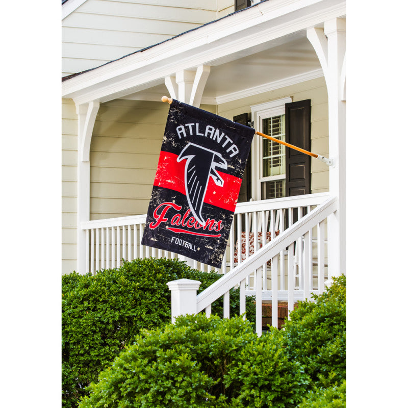 Atlanta Falcons Vintage Linen House Flag - AtlanticCoastSports