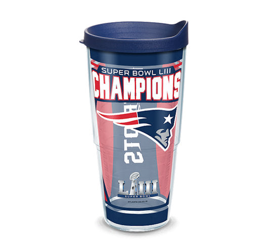 Tervis NFL® New England Patriots Super Bowl 53 Champions Wrap With Travel Lid - AtlanticCoastSports