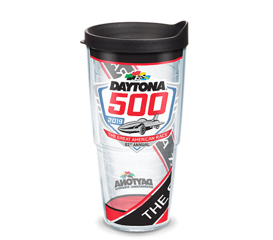 NASCAR® - DAYTONA 500 PATTERN Wrap With Travel Lid 5 sizes available - AtlanticCoastSports