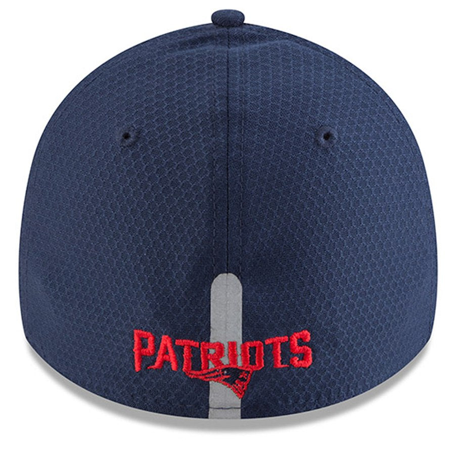 Mens Navy New Era New England Patriots 2018 NFL Training Camp Primary 39THIRTY Flex Hat - AtlanticCoastSports