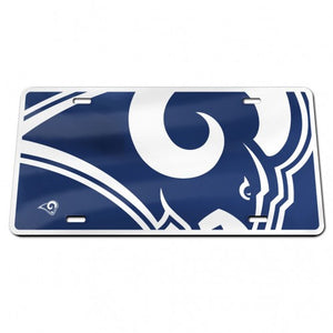 Los Angeles Rams Specialty Acrylic License Plate - AtlanticCoastSports