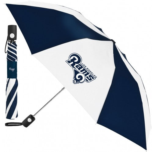 Los Angeles Rams Auto Folding Umbrella - AtlanticCoastSports