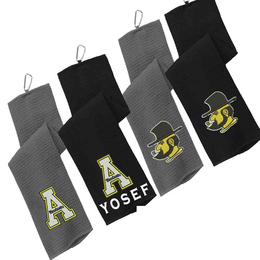 APP State Waffle Style Golf Towel add your Name at Checkout if interested - AtlanticCoastSports