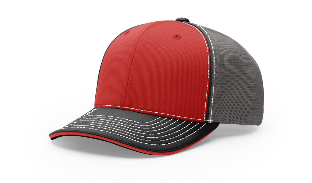 Richardson 172 Sport Mesh R-FLEX 12 red Colors Embroidery Available - AtlanticCoastSports