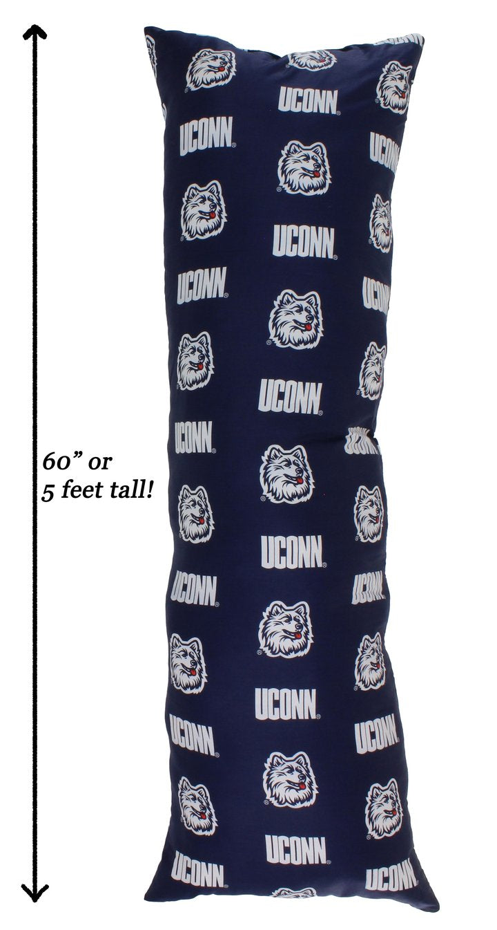 NCAA Connecticut Huskies Printed Body Pillow