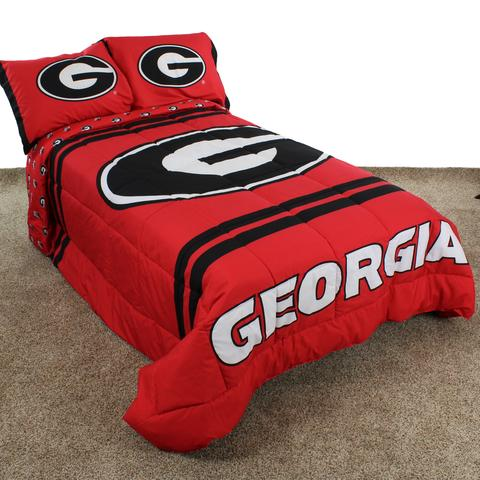 NCAA Georgia Bulldogs Reversible Comforter Set