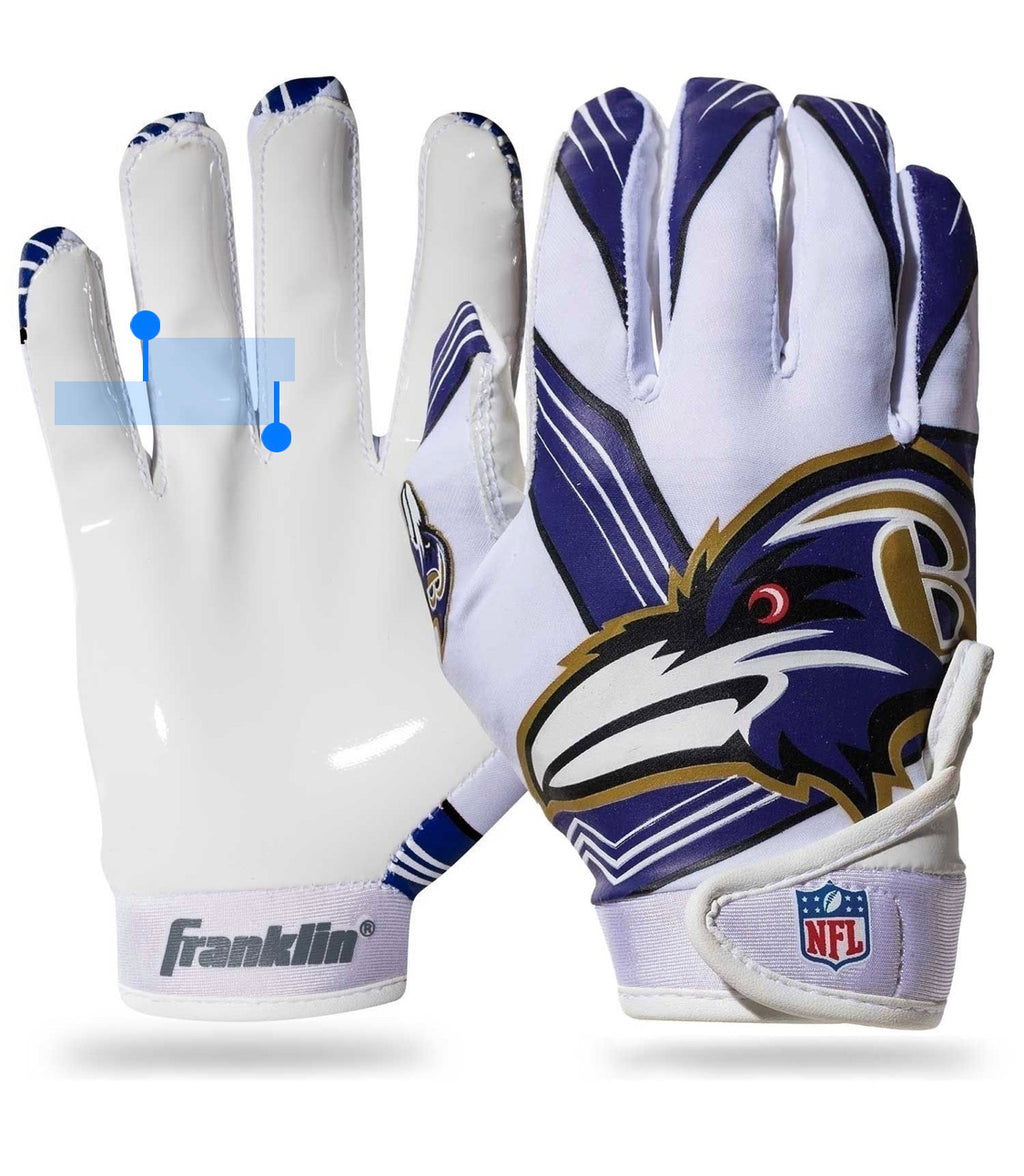 Baltimore Ravens Youth Receiver Gloves