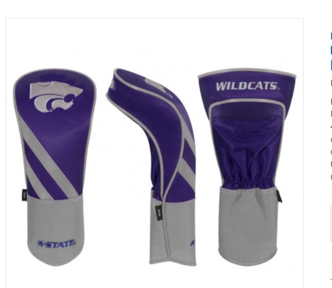 Kansas State Wildcats Golf Driver Cover