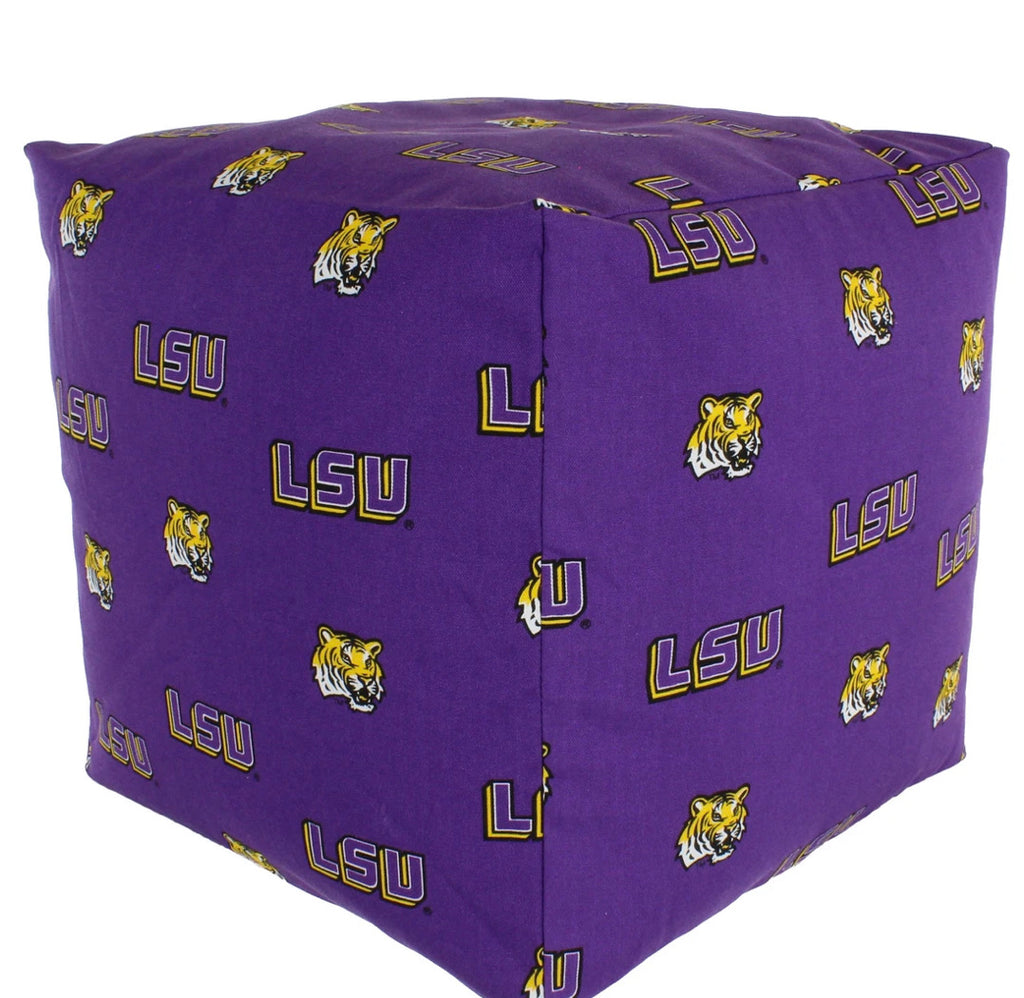 NCAA LSU Tigers Cubed Bean Bag Pouf