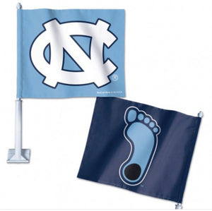 "NORTH CAROLINA, UNIVERSITY OF CAR FLAG 11.75"" X 14"" - AtlanticCoastSports"