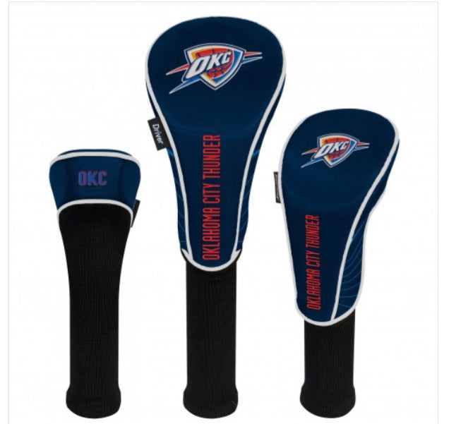 Oklahoma City Thunder Set of 3 Golf Head Covers