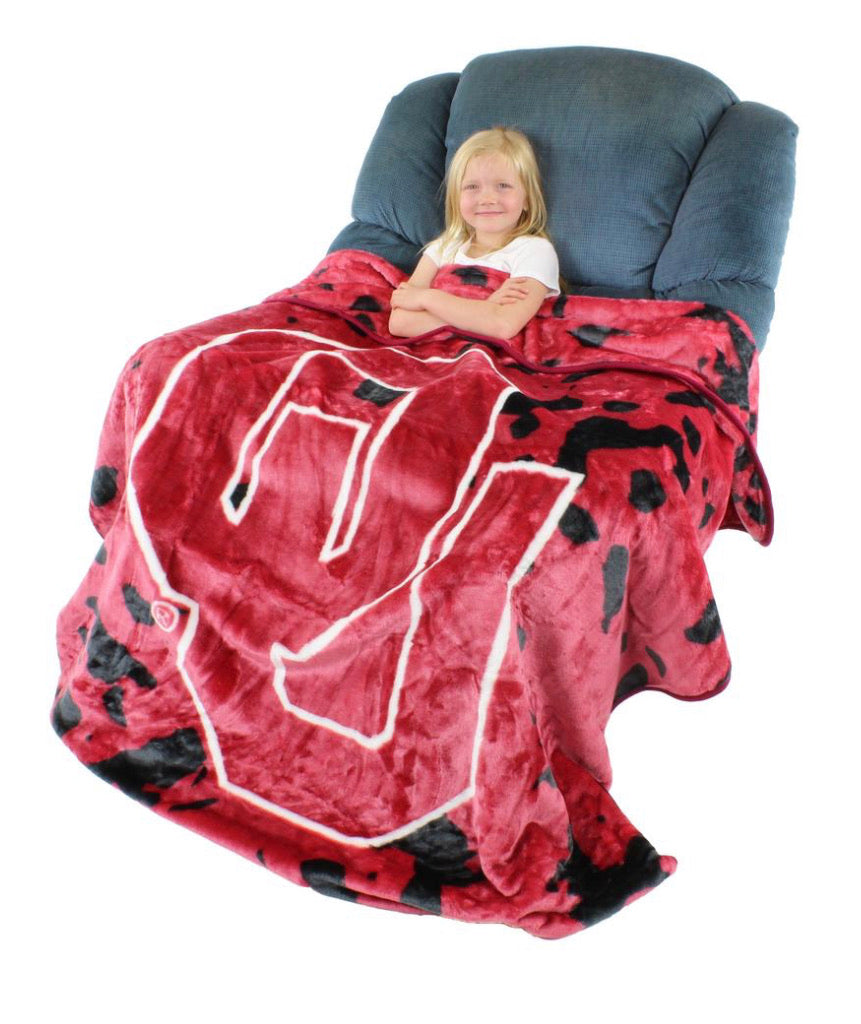 NCAA Oklahoma Sooners Huge Raschel Throw Blanket