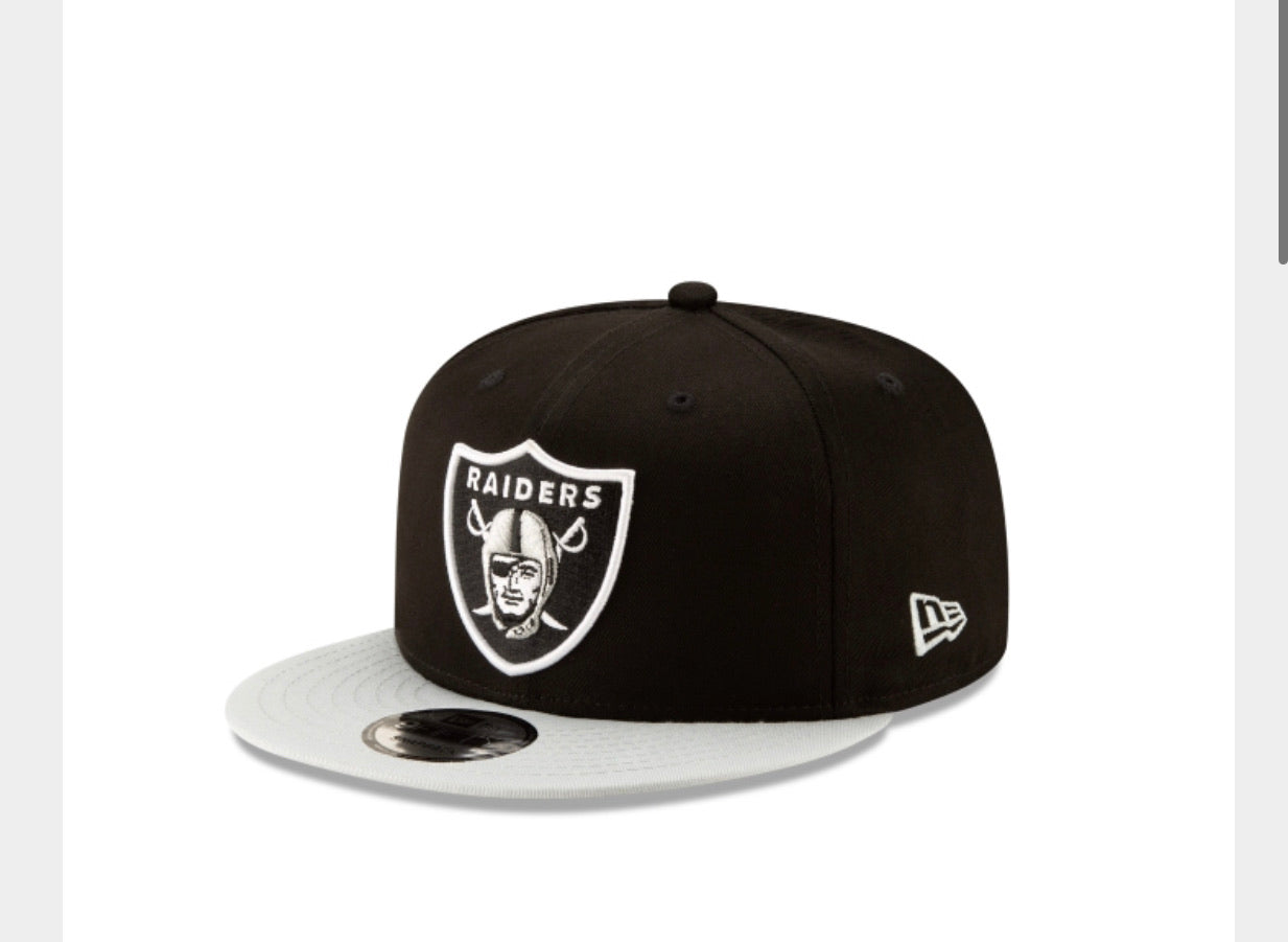 Las Vegas Raiders New Era 950 Snap Back 2Tone Basic Black/Grey Hat - AtlanticCoastSports