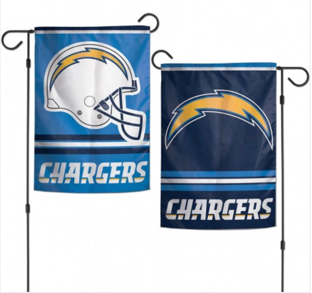 "Los  Angels Chargers 2 Sided Garden Flag 12.5"" X 18"""