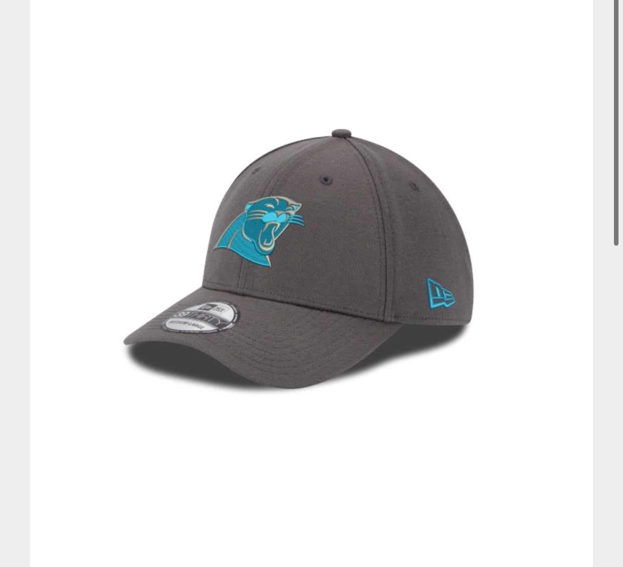 Carolina Panthers New Era 3930 Grapite Hat - AtlanticCoastSports