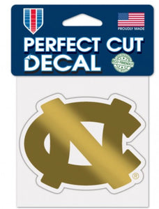 "NORTH CAROLINA, UNIVERSITY OF GOLD DECAL METALLIC 4"" X 4"" - AtlanticCoastSports"
