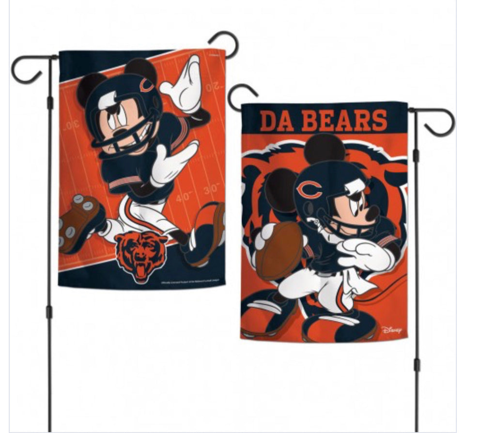 "Chicago Bears Mickey Mouse 2 Sided Garden Flag 12.5"" X 18"""