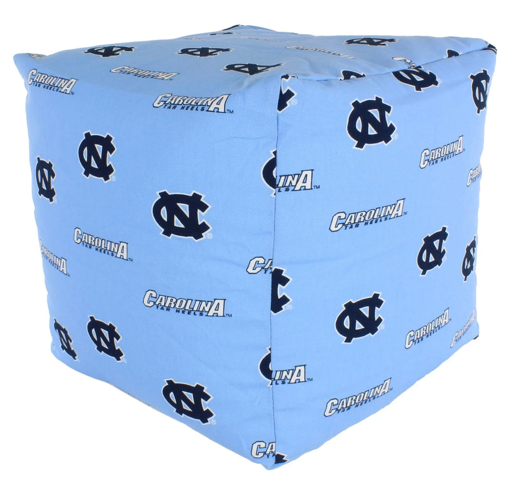 College Covers NCAA UNC Tar Heels Cubed Bean Bag Pouf