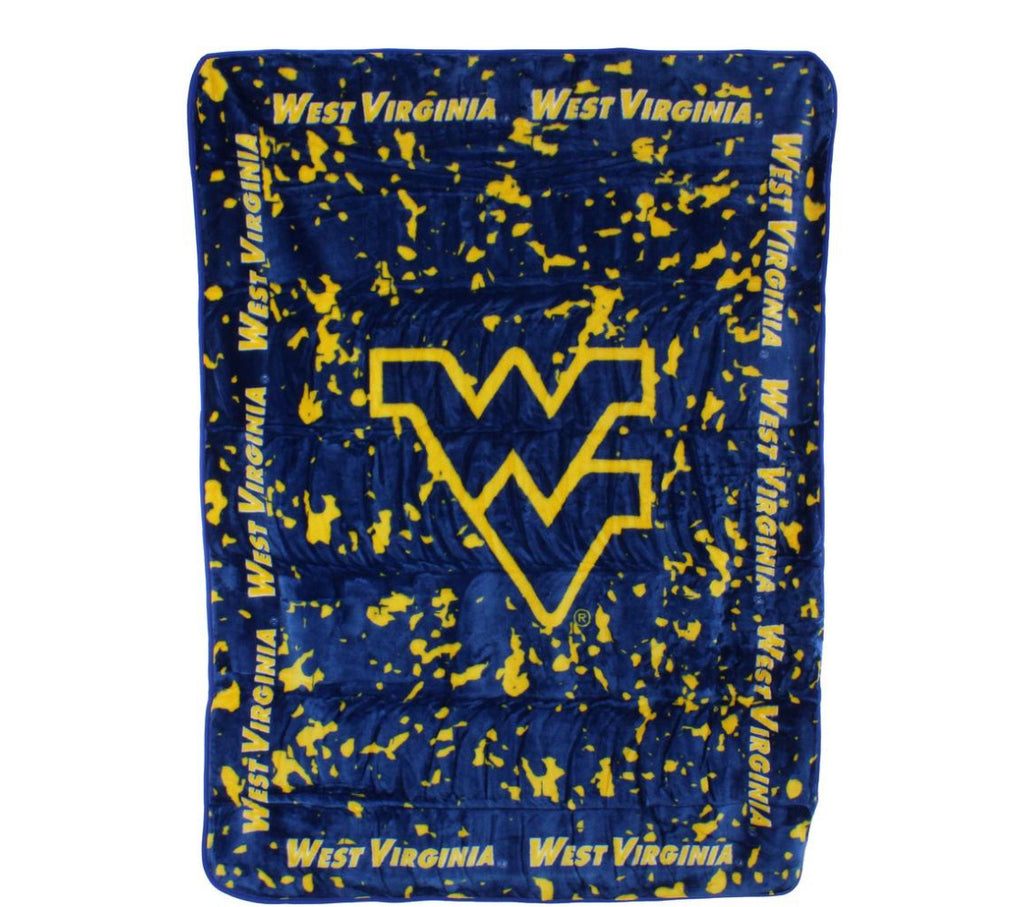 NCAA West Virginia Mountaineers Huge Raschel Throw Blanket
