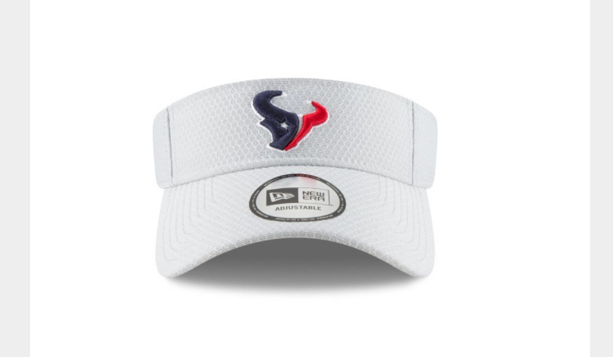 Houston Texans white visor - AtlanticCoastSports
