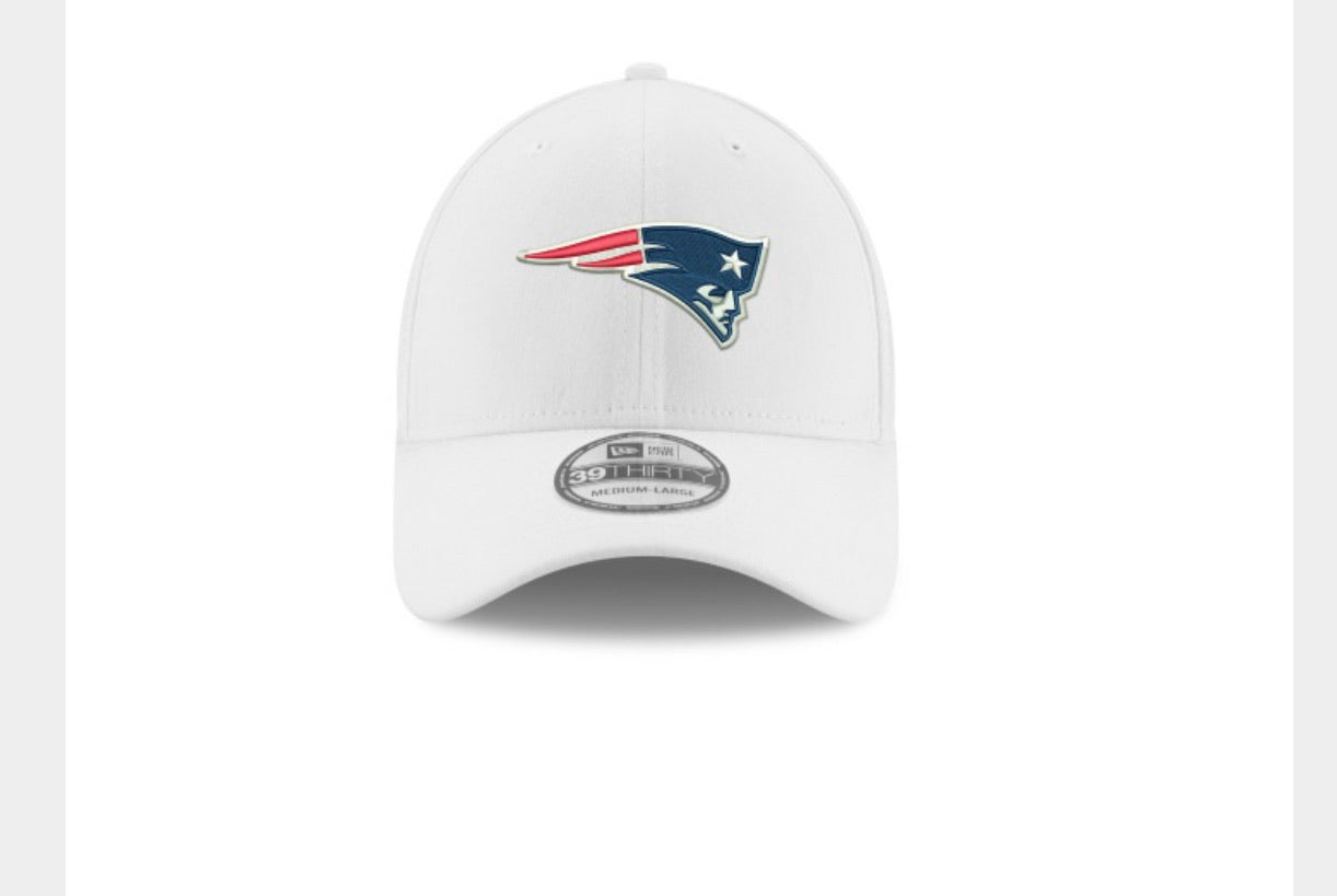 New England Patriots white TC hat - AtlanticCoastSports