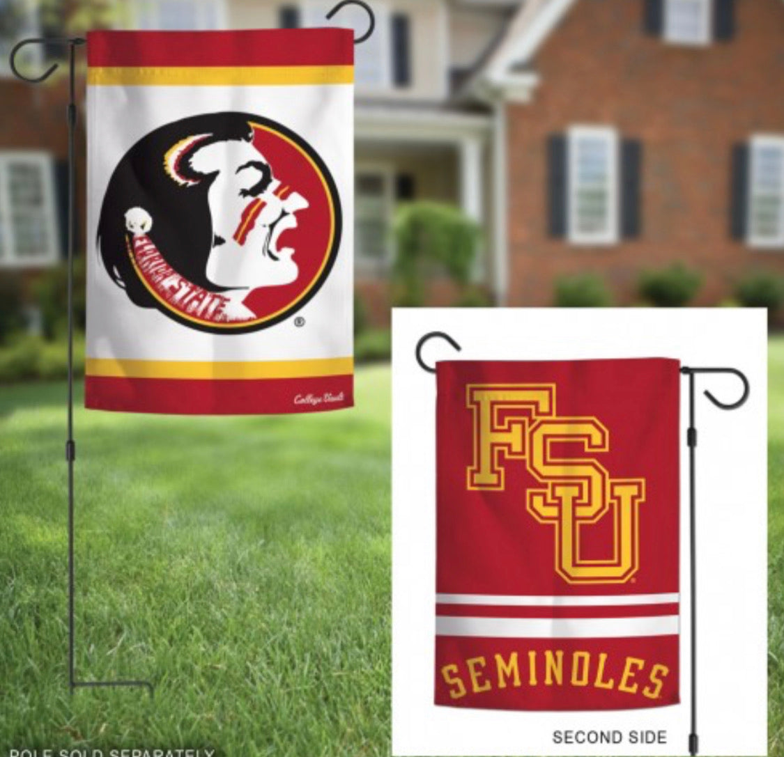 "Florida State 2 SIded Garden Flag 12.5"" X 18"""