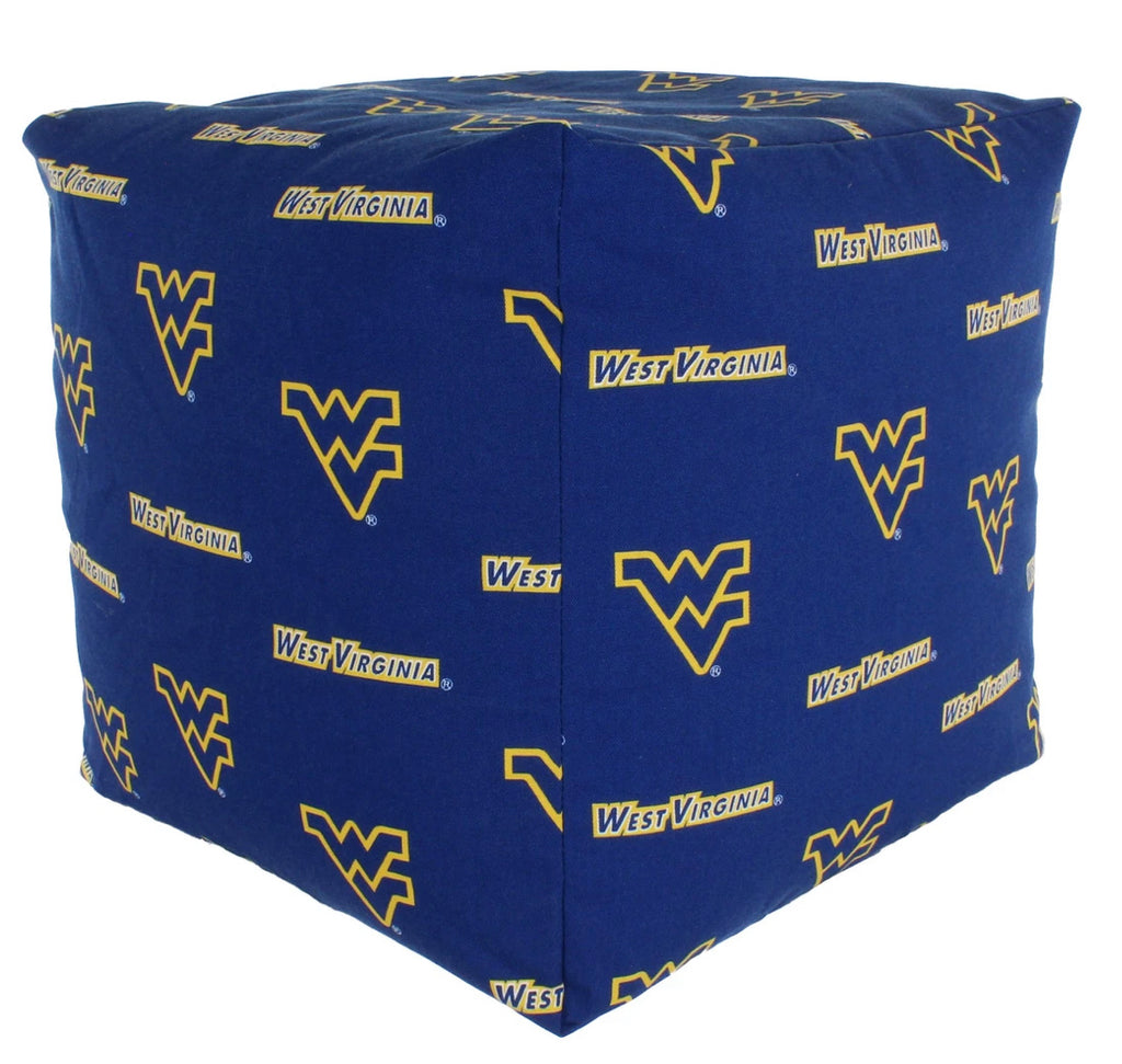 NCAA West Virginia Mountaineers Cubed Bean Bag Pouf