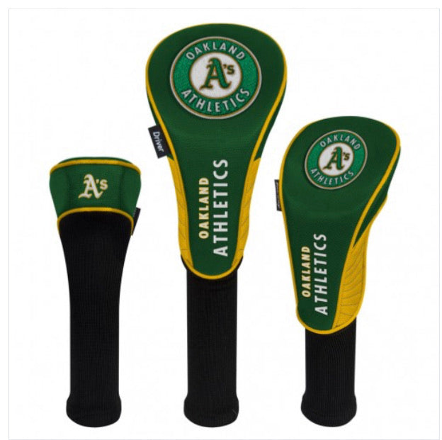 Oakland A'S HeadCovers - Set of 3