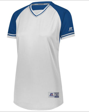 Russell Custom  Printed Ladies Classic V-Neck Softball Jerseys - AtlanticCoastSports