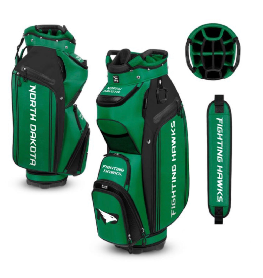 North Dakota University Hawks Golf Bag - The Bucket Cart Bag lll