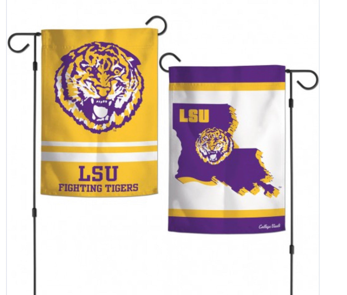 "LSU 2 Sided Garden Flag 12.5"" X 18"""