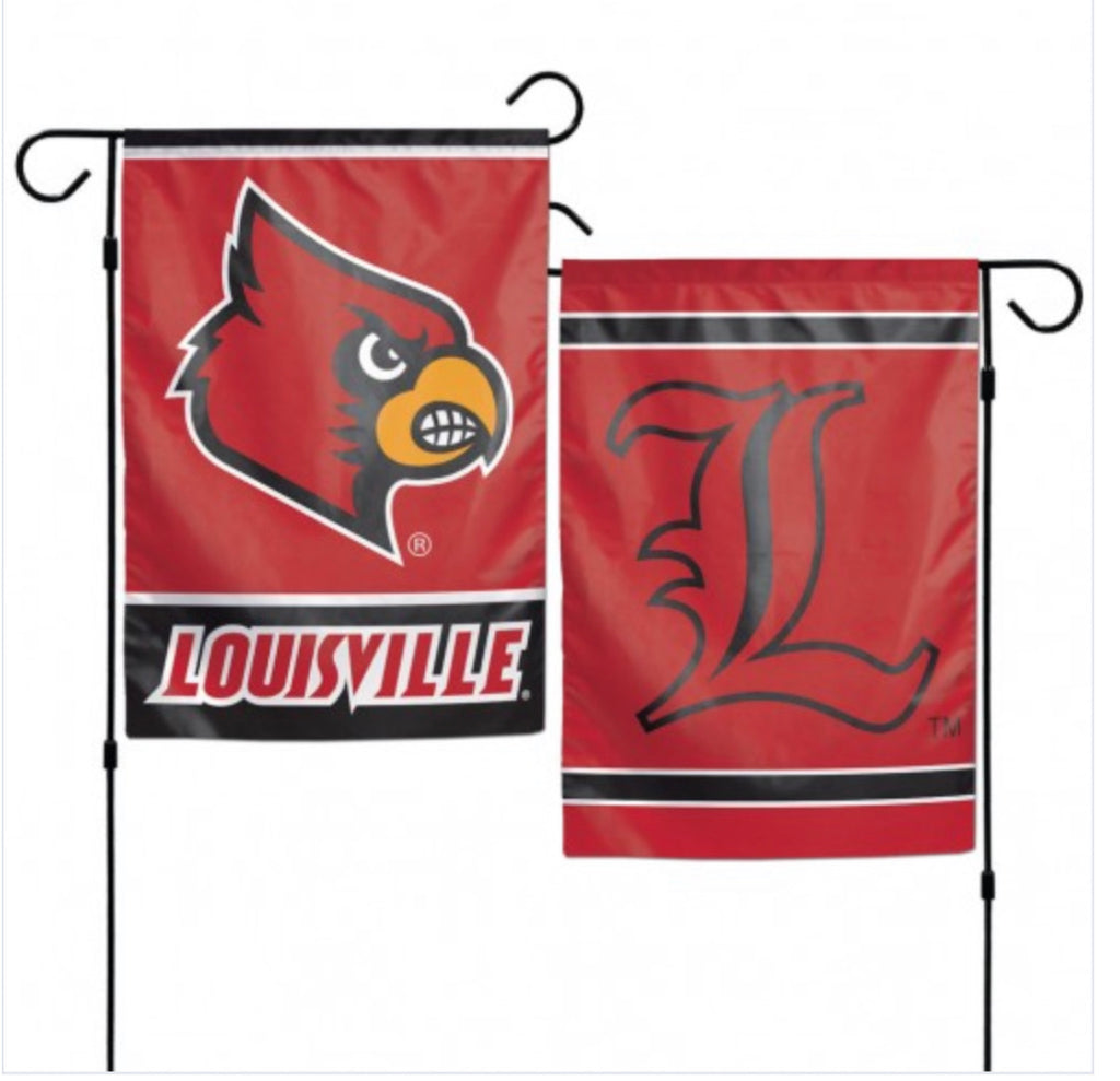 "Louisville Garden Flag 2 Sided 12.5"" X 18"""