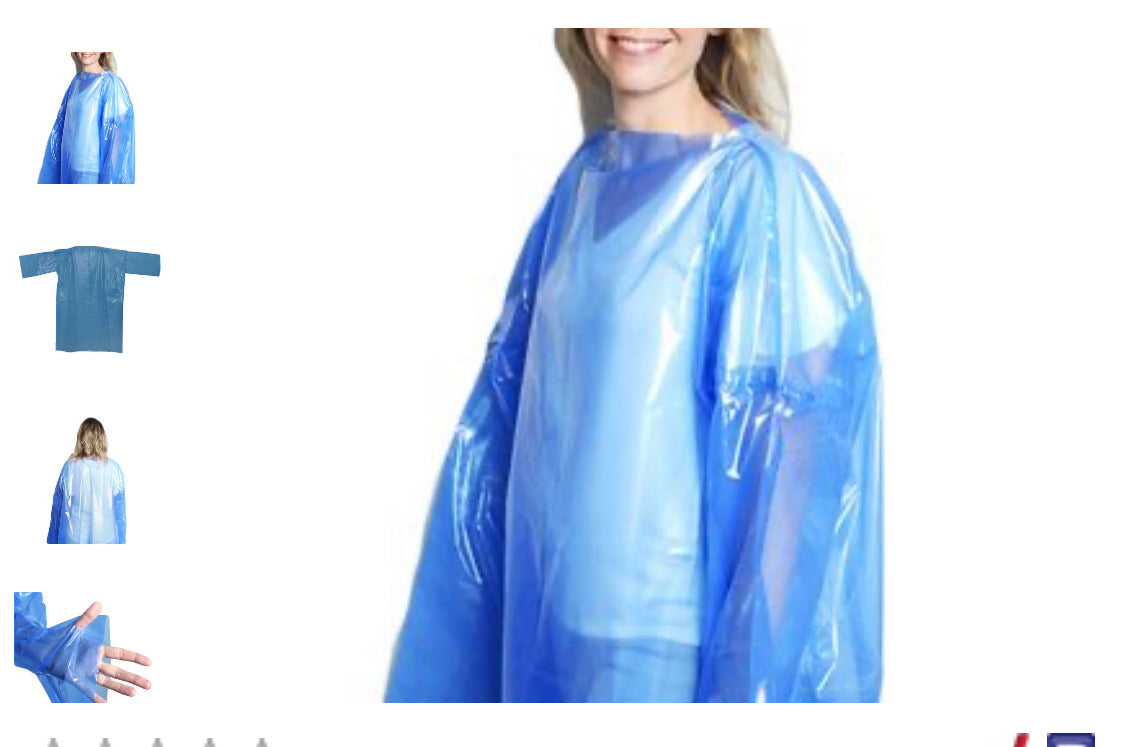 Isolation Gowns - AAMI Level 3 with Thumb Holes (min 1000 pc)