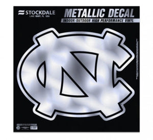 "NORTH CAROLINA, UNIVERSITY OF METALLIC WINDOW DECALS 6"" X 6"" - AtlanticCoastSports"