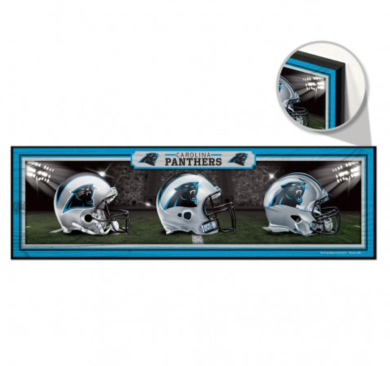 "Carolina panthers wood sign 9"" x 30"" - AtlanticCoastSports"