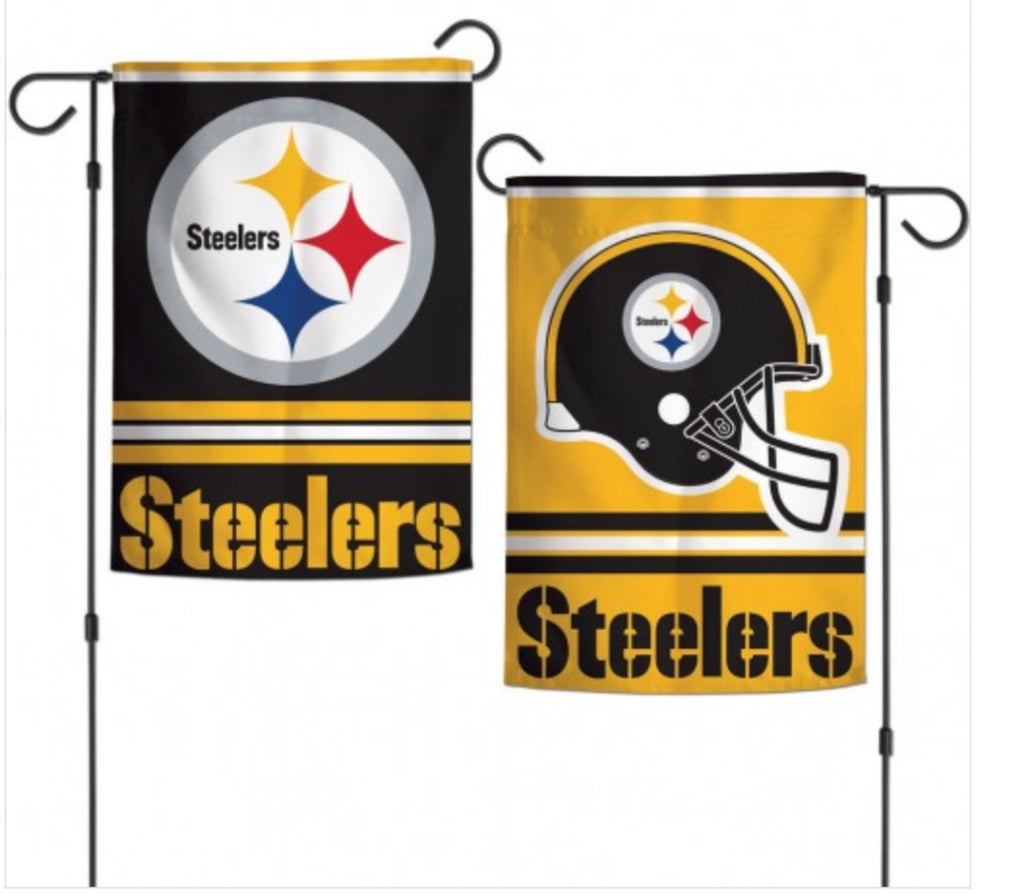 "Pittsburgh Steelers2 SIded Garden Flag 12.5"" X 18"""