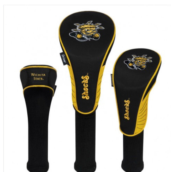 Wichita State Set of 3 Golf Head Covers