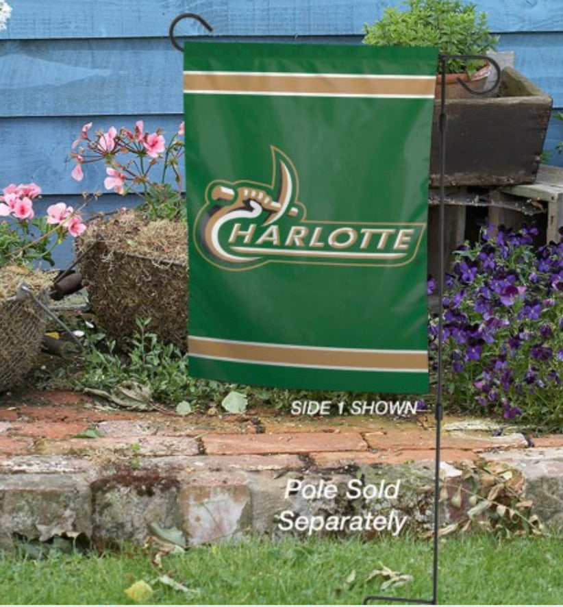 "UNC Charlotte Garden Flags 2 Sided 12.5"" X 18"""