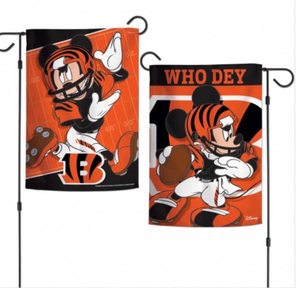"Cincinnati Bengals 2 Sided Garden Flag 12.5"" X 18"""