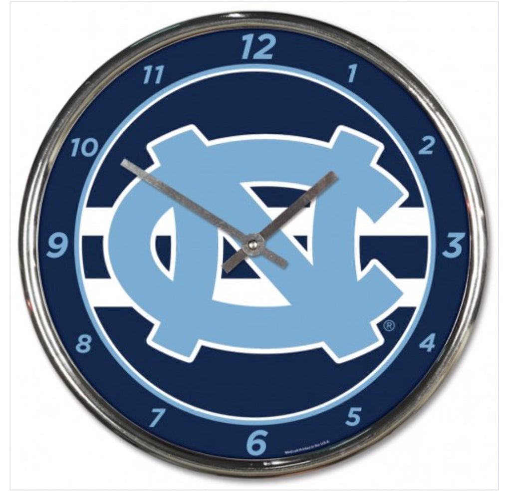 NORTH CAROLINA, UNIVERSITY OF CHROME CLOCK - AtlanticCoastSports