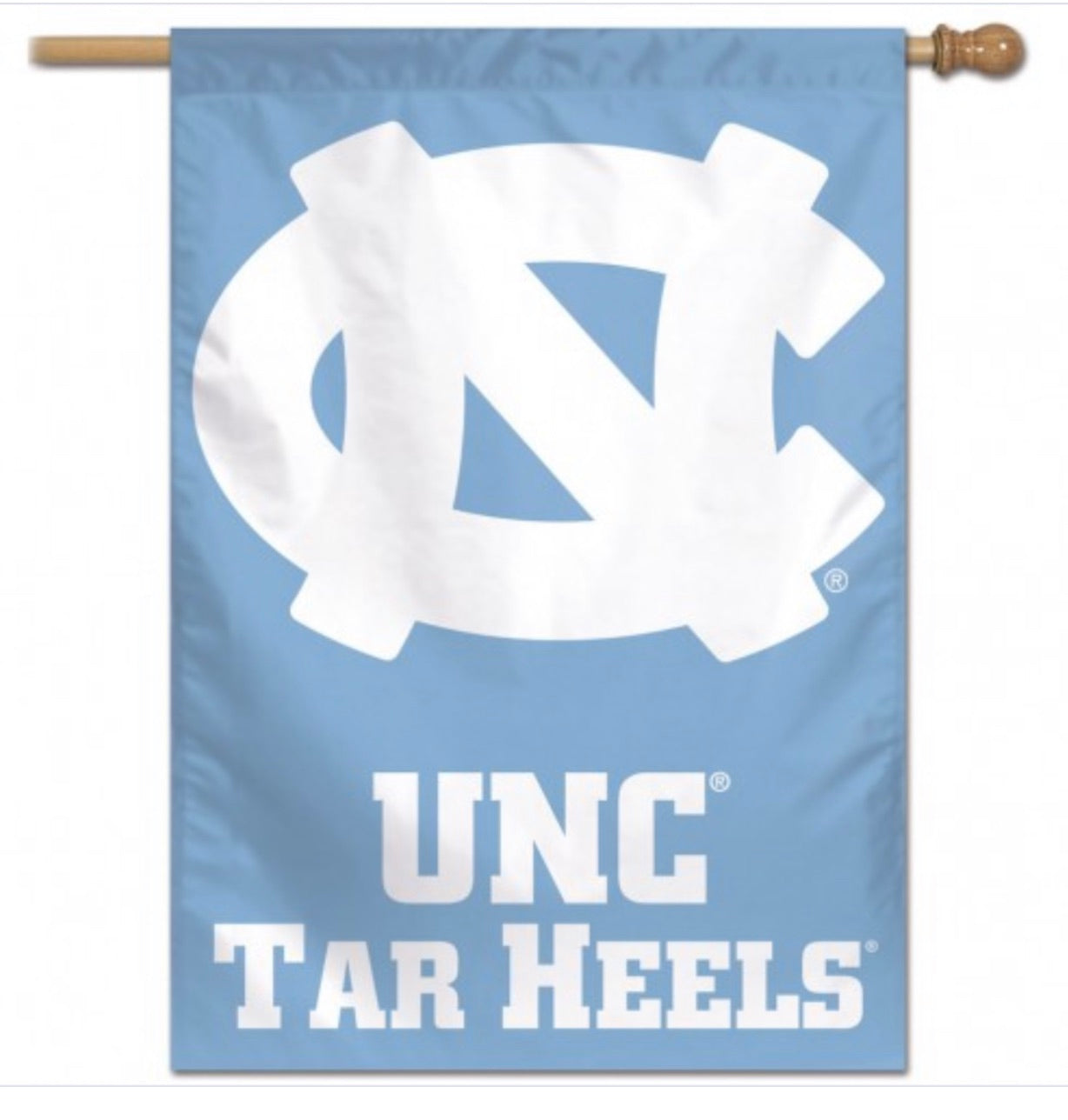 "NORTH CAROLINA, UNIVERSITY OF VERTICAL FLAG 28"" X 40"" - AtlanticCoastSports"